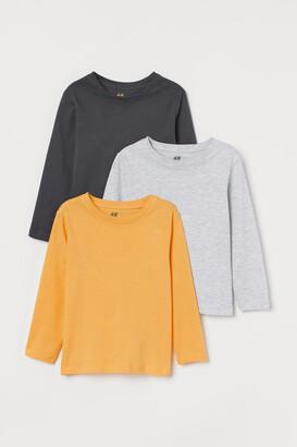 H&M 3-pack Jersey Shirts - Yellow
