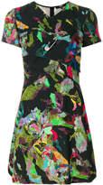 Versus draped printed mini dress
