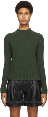 Victoria Beckham Green Wool and Cashmere Sweater