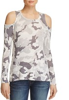 Aqua Camo Cold Shoulder Sweater - 100% Exclusive