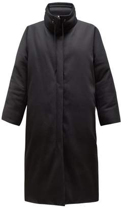 The Row Reka High Neck Down Filled Cotton Coat - Womens - Black