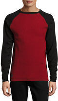 Point Zero Two-Tone Raglan Sweater