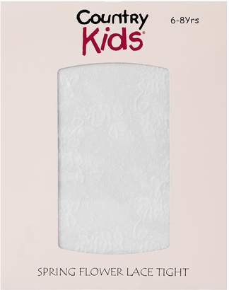 Country Kids Flower Lace Tights