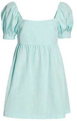 Alice + Olivia Bauery Puff-Sleeve Dress