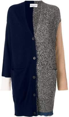 Sonia Rykiel long colour block cardigan