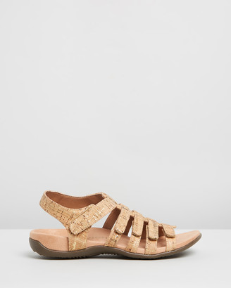 Vionic Women's Gold Strappy sandals - Harissa Sandals - Size One Size, 5 at The Iconic