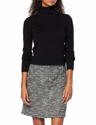 Dorothy Perkins Women's Salt & Pepper Zip Mi Skirt