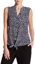 Joie Edalette Sleeveless Silk Tie Blouse