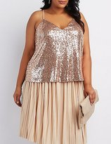 Charlotte Russe Plus Size Sequin Cami Tank Top