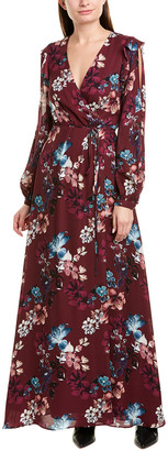 Nicholas Floral Silk Wrap Dress