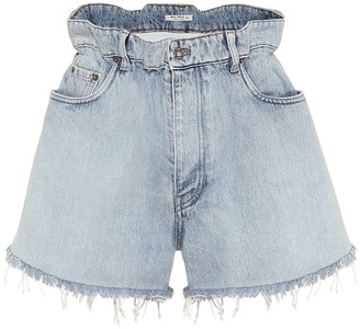 Miu Miu Paperbag denim shorts