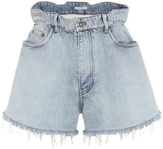 Miu Miu Paperbag denim shorts