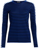 Akris Punto Tri-Color Wool Knit Sweater