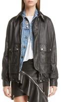 Saint Laurent Women's Embellished Lambskin Leather Jacket