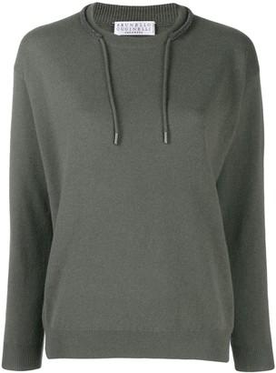 Brunello Cucinelli draw-string neck jumper