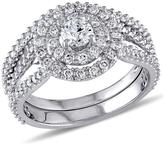 Ice Julie Leah 1 1/4 CT TW Diamond 14K White Gold Bridal Set