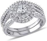 Ice Julie Leah 1 1/4 CT TW Diamond 14K White Gold Bridal Set