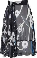 Aquascutum London Olive Circle Cut Skirt