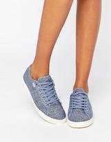 Gola Aster Denim Print Lace Up Sneaker