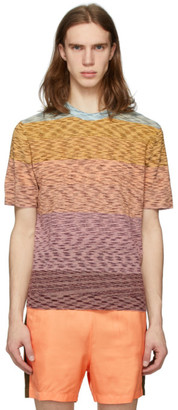 Missoni Multicolor Striped Henley T-Shirt
