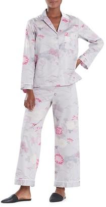 Natori Kiku 2-Piece Cotton Sateen Pajama Set