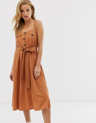 Asos DESIGN midi utility belted sundress