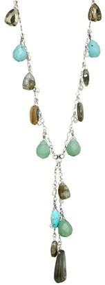 Chan Luu Mixed Turquoise Beaded Drop Long Necklace