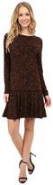 MICHAEL Michael Kors Atherton Long Sleeve Flare Dress