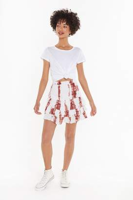 Nasty Gal Womens Tie Dye Cheesecloth Layered Mini Skirt - Brown - 4, Brown