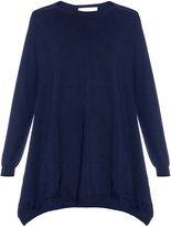 Stella McCartney Asymmetric wool and silk-blend sweater