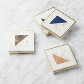 CB2 Two Fold Brass and Marble Coasters Set of 4