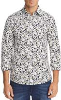 Michael Kors Floral Print Stretch Slim Fit Button-Down Shirt