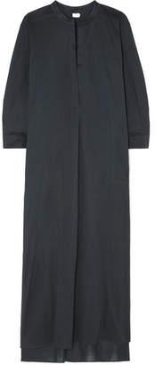 Eres Odette Cotton-voile Maxi Dress - Charcoal
