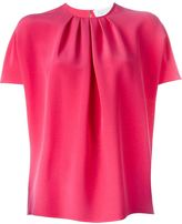 Gianluca Capannolo batwing pleated front blouse