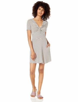 Speechless Womens Twist Bodice Short Sleeve Day Dress