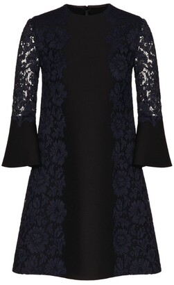 Valentino Lace Crepe Mini Dress