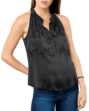 Go Silk Go By Go by Make The Cut Sequined Silk Top