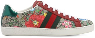 Gucci 10mm New Ace Cotton Canvas Sneakers