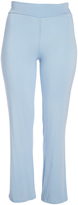 Glam Light Blue Straight-Leg Pants - Plus