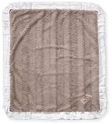 Swankie Blankie Ziggy Plush Receiving Blanket, Slate