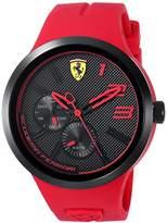 Ferrari Men's 'FXX' Quartz Resin and Silicone Casual Watch, Color:Red (Model: 0830396)