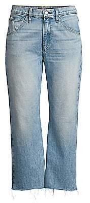 Hudson Jeans Women's Sloane High-Rise Baggy Crop Stud Jeans
