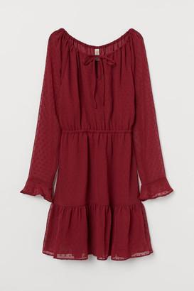 H&M Short Chiffon Dress - Red