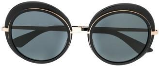 Emmanuelle Khanh Oversized Round Sunglasses
