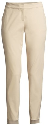 Lafayette 148 New York Manhattan Slim-Fit Step Hem Pants
