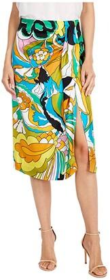 J.Crew Silk Monos Skirt (Vintage Kelly Multi) Women's Skirt
