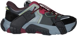Valentino Multicolored Color-block Sneakers Black/red/grey