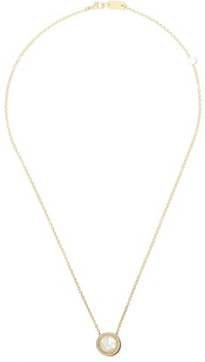 Ippolita 18kt yellow gold and red ceramic Lollipop Carnevale crystal and diamond pendant necklace
