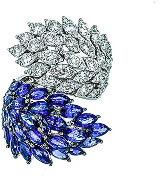 Arthur Marder Fine Jewelry 18K 8.60 Ct. Tw. Diamond & Sapphire Ring