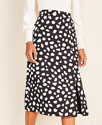 Ann Taylor Petite Leopard Print Slip Skirt